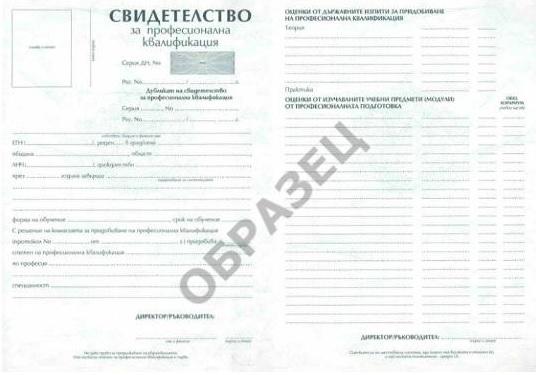 Свидетелство за професионална квалификация - курс Програмиране